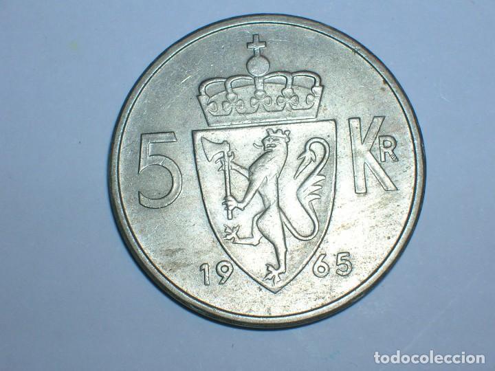Monedas antiguas de Europa: NORUEGA 5 CORONAS 1965 (6055) - Foto 2 - 210428773