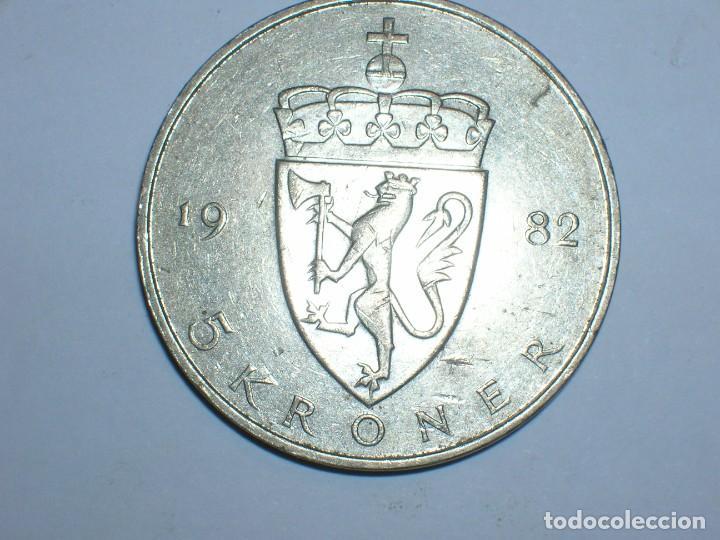 Monedas antiguas de Europa: NORUEGA 5 CORONAS 1982 (6057) - Foto 2 - 210428843