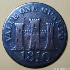 Monedas antiguas de Europa: GIBRALTAR * 1810 * 1 QUARTO. Lote 210727131