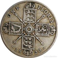 Monedas antiguas de Europa: REINO UNIDO. 1 FLORÍN (2 SHILLINGS) DE 1920 (GEORGIUS V). BUEN ANVERSO. (083).. Lote 201754925