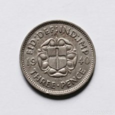 Monedas antiguas de Europa: 2ªGM 3 PENCE 1940 DE GRAN BRETAÑA. Lote 211899678