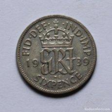Monedas antiguas de Europa: 2ªGM SIXPENCE 1939 DE GRAN BRETAÑA. Lote 211901941