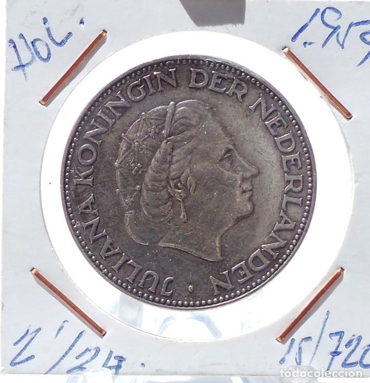 HOLANDA.- 2 1/2 GULDEN 1959. JULIANA - PLATA. (Numismática - Extranjeras - Europa)