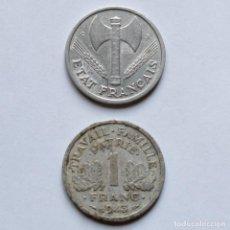Monedas antiguas de Europa: WWII FRANC 1943 + FRANC 1944 DEL ESTADO FRANCÉS.. Lote 212282295