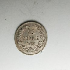 Monedas antiguas de Europa: FINLANDIA 25 PENNIA 1917 PLATA ¡¡¡ LIQUIDACION COLECCIOM'''. Lote 212652073