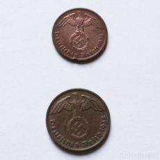 Monedas antiguas de Europa: WWII REICHSPFENNIG 1938A + 2 REICHSPFENNING 1938D DEL TERCER REICH. Lote 212700450