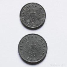 Monedas antiguas de Europa: 2ªGM 5 + 10 REICHSPFENNIG DE 1940A DEL TERCER REICH. Lote 212701588