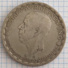 Monedas antiguas de Europa: UNA CORONA PLATA SUECIA 1942 REY GUSTAV V. Lote 212740642