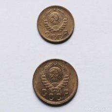 Monedas antiguas de Europa: WWII 1 + 2 KOPEKS 1940 DE LA URSS. Lote 212777687