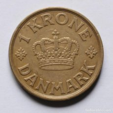 Monedas antiguas de Europa: WWII 1 KRONE 1940 DE DINAMARCA. Lote 212778795