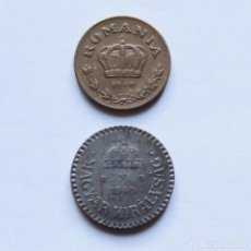 Monedas antiguas de Europa: WWII 1 LEU RUMANIA 1940 + 2 FILLER HUNGRIA 1940. Lote 212831383