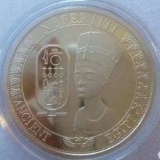 Monnaies anciennes de France: PRECIOSA MONEDA 1 ONZA REINA NEFERTITI E ORO 24K LAMINADO. Lote 212919401