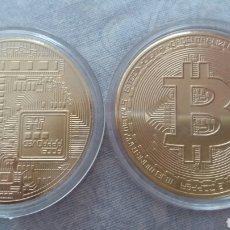 Monnaies anciennes de France: MONEDA DE BITCOIN DE ORO 24K LAMINADO. Lote 212919670