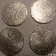 Monedas antiguas de Europa: 4 MONEDAS OLIMPIADAS DE MUNICH 1972 SERIE COMPLETA NOTICIAS DE D.F.G.J.. Lote 212938060
