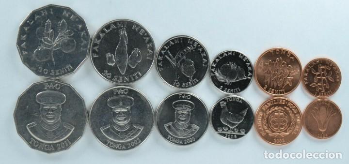 LOTE DE MONEDAS DE TONGA - 6 MONEDAS (Numismática - Extranjeras - Europa)