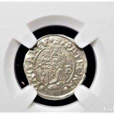 Monedas antiguas de Europa: IMPERIO AUSTRIACO.FERNANDO I. DENARIO. NGC CERTIFICADO AU 58 KREMNITZ(HUNGRIA). 1543-KB-PLATA. Lote 213473271