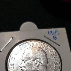 Monedas antiguas de Europa: RARA Y ESCASA MONEDA 3 MARCOS 1904 IMPERIO/ESTADOS ALEMANES BADEN PLATA BRILLO. Lote 213612505