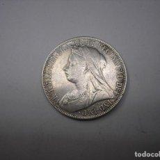 Monedas antiguas de Europa: GRAN BRETAÑA. TWO SHILLINGS DE PLATA DE 1898. REINA VICTORIA. Lote 213641656