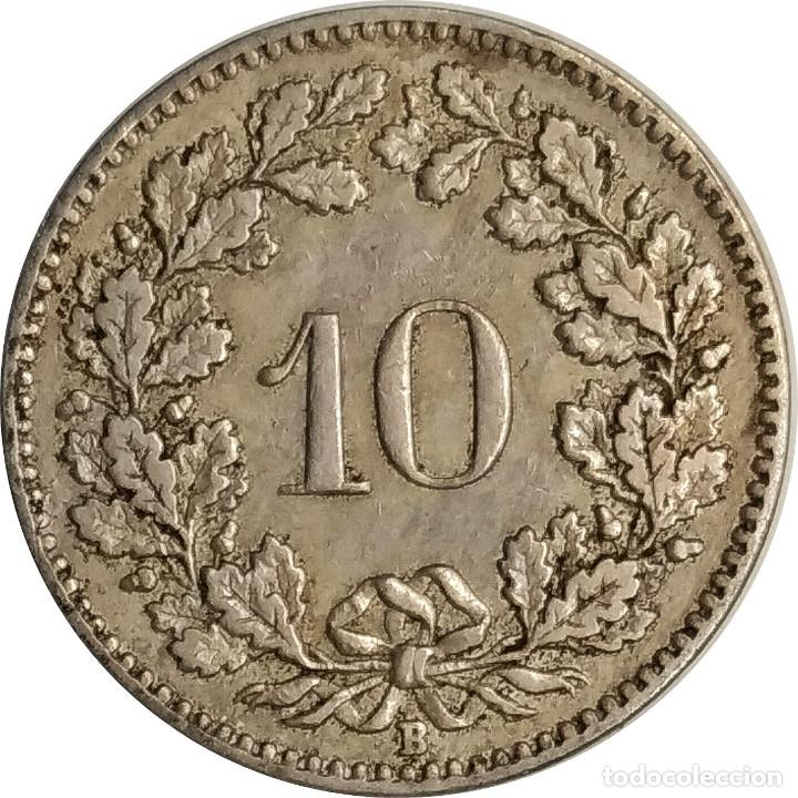 SUIZA (CONFEDERACIÓN HELVÉTICA).10 CÉNTIMOS (RAPPEN) DE 1920, MARCA CECA B (BERNA). (097). (Numismática - Extranjeras - Europa)