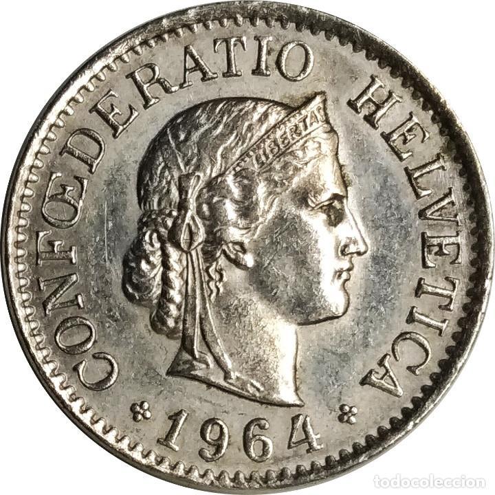 SUIZA (CONFEDERACIÓN HELVÉTICA).10 CÉNTIMOS (RAPPEN) DE 1964, MARCA CECA B (BERNA). (097). (Numismática - Extranjeras - Europa)