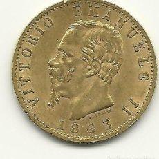 Monedas antiguas de Europa: MONEDA DE ORO 20 LIRAS VITTORIO EMANUELE II 1863. Lote 214006818