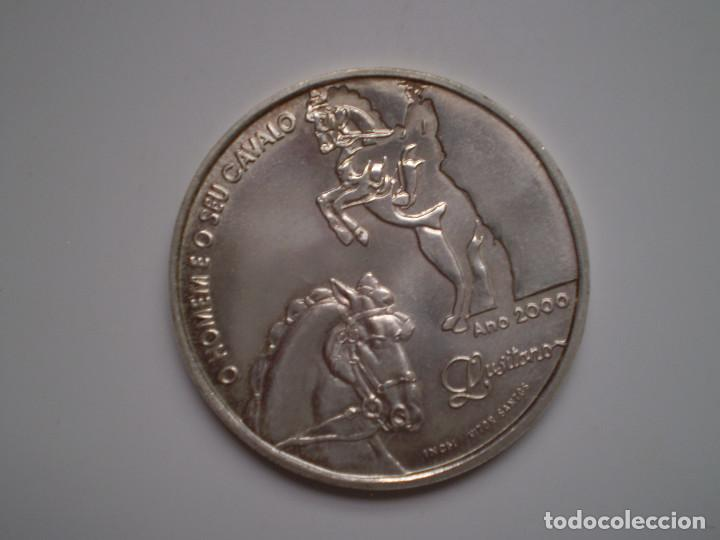 1000 ESCUDOS PLATA 2000 PORTUGAL. EL HOMBRE Y SU CABALLO LUSITANO (Numismática - Extranjeras - Europa)