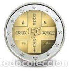 Monedas antiguas de Europa: 2 EUROS BELGICA 2014 CUZ ROJA. Lote 214974552