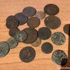 Monedas antiguas de Europa: LOTE DE 20 MONEDAS DIFERENTES - MARAVEDIS - CENTIMOS - ESCUDOS. Lote 215029086