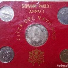 Monedas antiguas de Europa: SOUVENIR VATICANO PAPA JUAN PABLO II . 5 MONEDAS. GIOVANNI PAOLO I .ANNO I. Lote 215797146