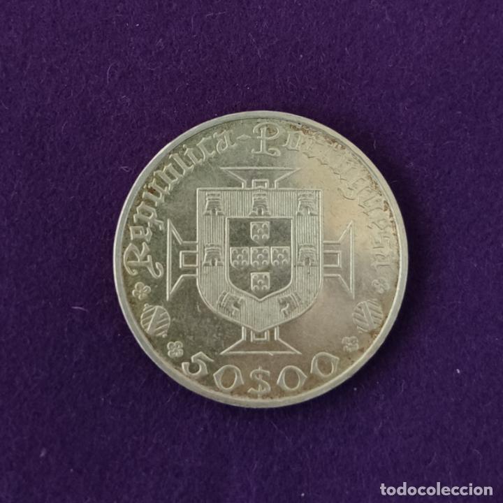 Monedas antiguas de Europa: MONEDA DE PLATA DE PORTUGAL. 50 ESCUDOS. VASCO DE GAMA. 1469-1969. SIN CIRCULAR. SILVER. - Foto 2 - 216536523