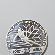 Monedas antiguas de Europa: 25 LEVAS DE BULGARIA DEL AÑO 1987..PROOF. Lote 216857690