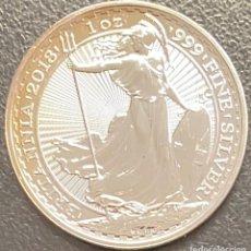 Monedas antiguas de Europa: GRAN BRETAÑA, 1 ONZA DE PLATA. Lote 217209021