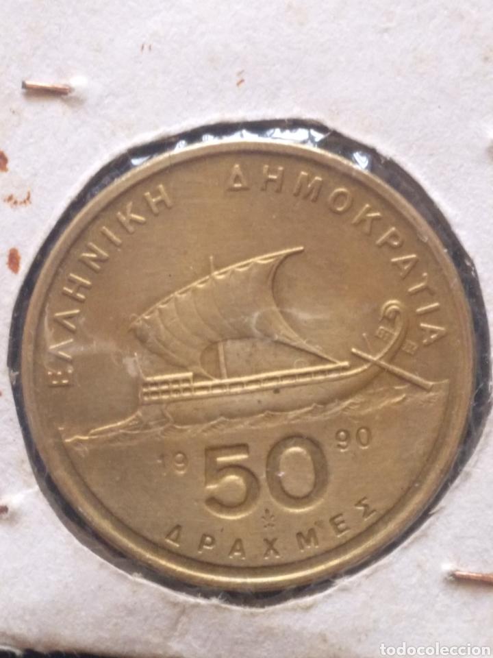 Monedas antiguas de Europa: MONEDA DE 50 DRAGMAS AÑO 1990 - Foto 2 - 217457902