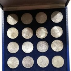Monedas antiguas de Europa: ALEMANIA. 10 MARCOS. AR. PLATA. 1972. SET COMPLETO (24 MONEDAS). OLIMPIADA DE MUNICH. SC. ESTUCHE. Lote 217546768