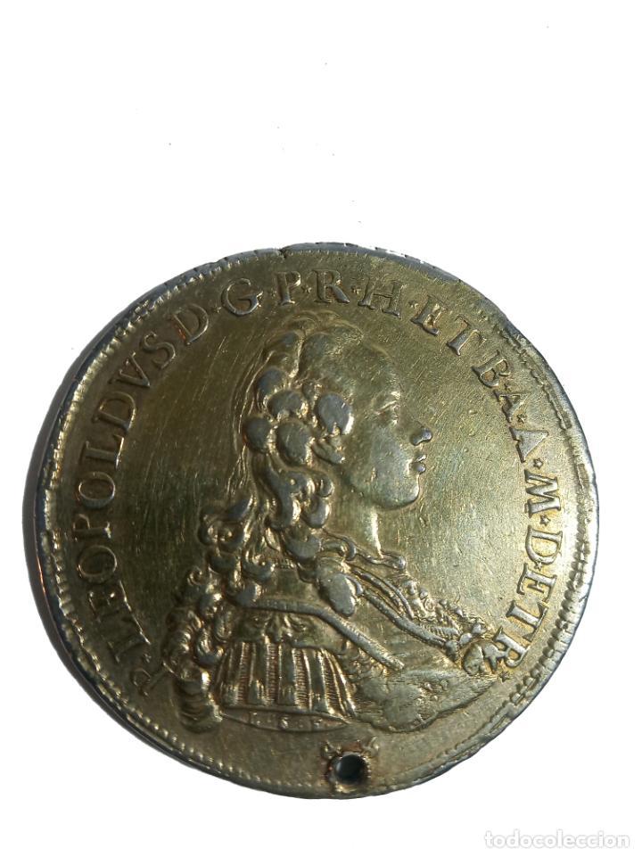 Monedas antiguas de Europa: Moneda de plata con baño de oro. P LEOPOLDUS...ETRUR DIRIGE DOMINE GRESSVS MEOS. 1772. Rara. - Foto 2 - 218079487