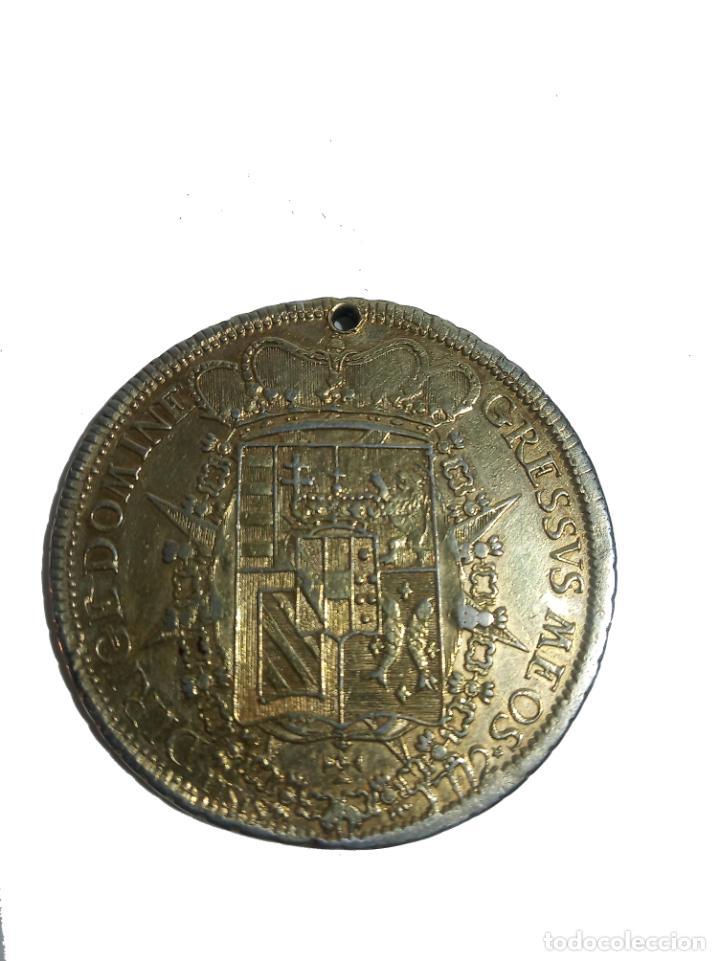 Monedas antiguas de Europa: Moneda de plata con baño de oro. P LEOPOLDUS...ETRUR DIRIGE DOMINE GRESSVS MEOS. 1772. Rara. - Foto 3 - 218079487