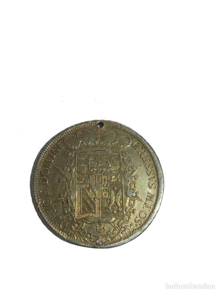 Monedas antiguas de Europa: Moneda de plata con baño de oro. P LEOPOLDUS...ETRUR DIRIGE DOMINE GRESSVS MEOS. 1772. Rara. - Foto 4 - 218079487