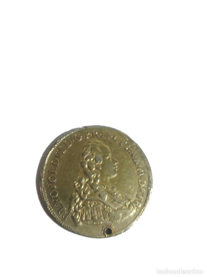 Monedas antiguas de Europa: Moneda de plata con baño de oro. P LEOPOLDUS...ETRUR DIRIGE DOMINE GRESSVS MEOS. 1772. Rara. - Foto 5 - 218079487