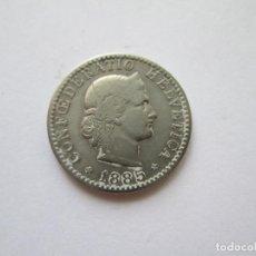 Monedas antiguas de Europa: SUIZA * 20 RAPPEN 1885 *. Lote 218283268