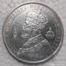 Monedas antiguas de Europa: 2 CORONAS PLATA SUECIA 1897 25º ANIVERSARIO CORONACION OSCAR II. Lote 218460953
