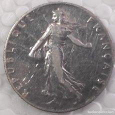 Monedas antiguas de Europa: 50 CENTIMOS PLATA FRANCO FRANCIA 1917. Lote 218561242