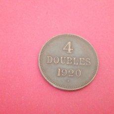 Monedas antiguas de Europa: 4 DOUBLES DE GUERNSEY 1920. Lote 218673633