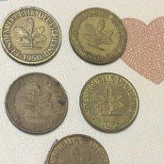 Monedas antiguas de Europa: LOTE 10 PFENNIC. 1950/78/81/86. Lote 219028216