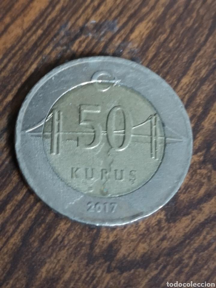 MO95.MONEDA DE TURKIYE CUMHURIYETI. 50 KURUS 2017 (Numismática - Extranjeras - Europa)