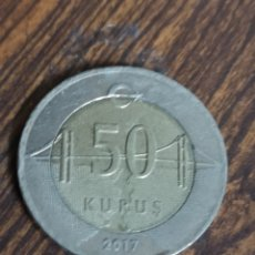Monedas antiguas de Europa: MO95.MONEDA DE TURKIYE CUMHURIYETI. 50 KURUS 2017. Lote 219098537