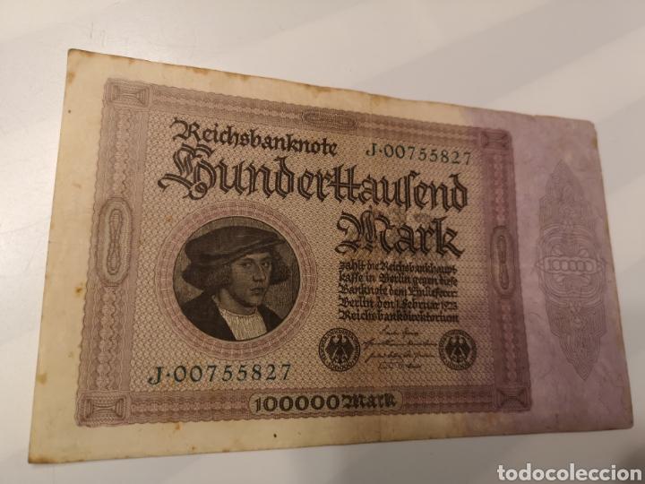 B282. BILLETE DE ALEMANIA. 100000 MARK. 1923 (Numismática - Extranjeras - Europa)