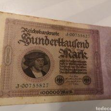 Monedas antiguas de Europa: B282. BILLETE DE ALEMANIA. 100000 MARK. 1923. Lote 233502650