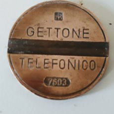 Monedas antiguas de Europa: MONEDA PARA TELÉFONO CABINA ITALIANA NUMERADA.GETTONE. Lote 220369346