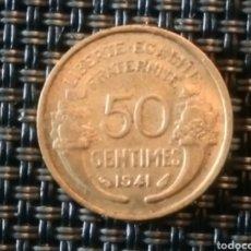 Monedas antiguas de Europa: 50 CÉNTIMOS 1941 FRANCIA. Lote 220467645