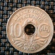 Monedas antiguas de Europa: 10 FRANCOS 1938 SC. FRANCIA.. Lote 220470941